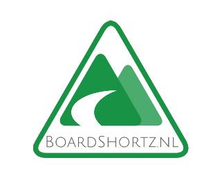 Logo boardshortz met extra witte rand