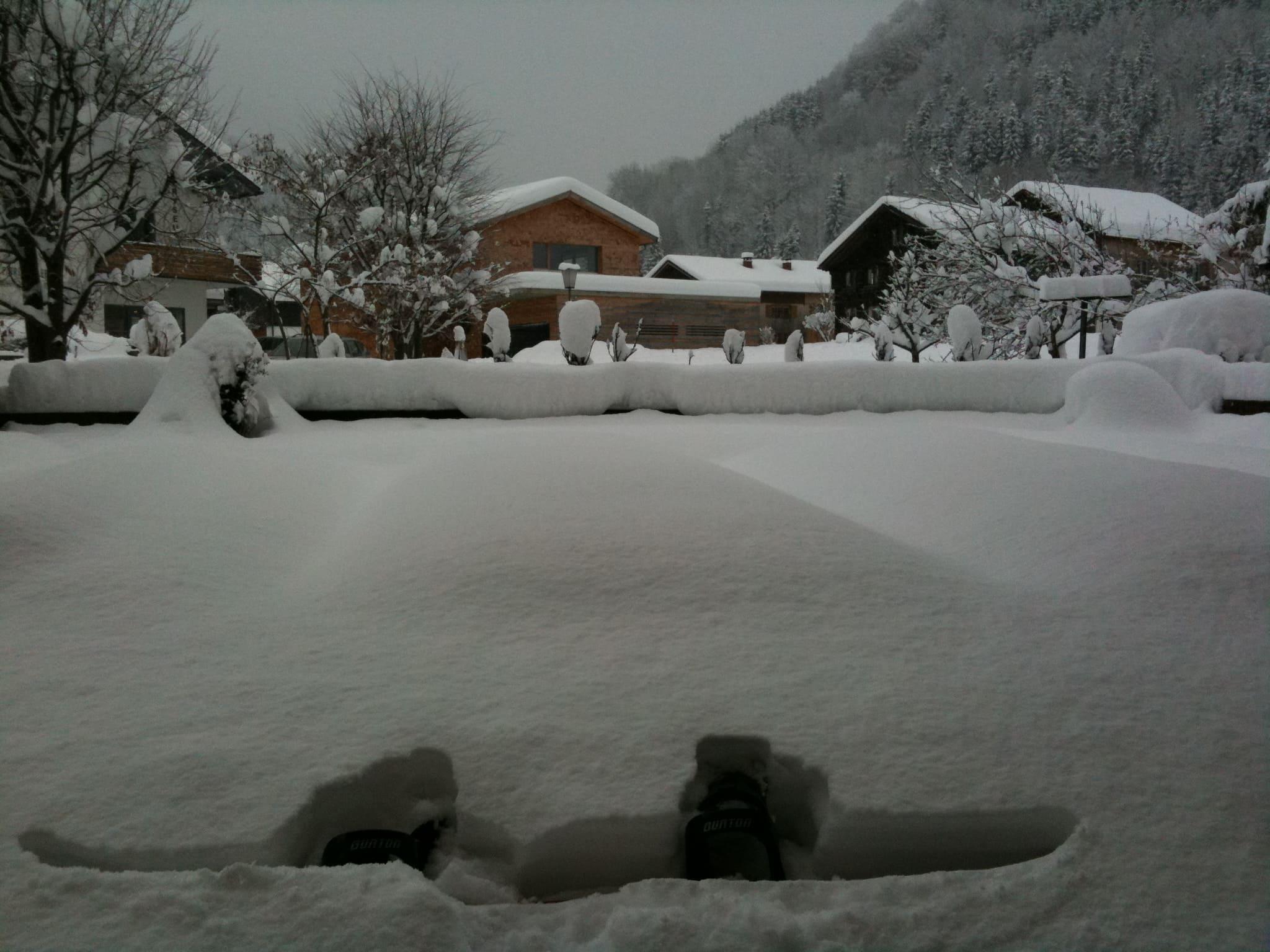 Poedersneeuw in Damüls