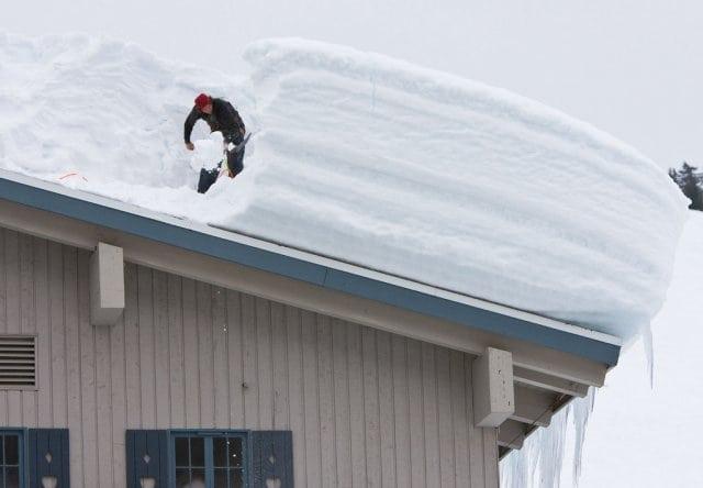 Dik Pak Sneeuw Op De Daken Boardshortz Nl