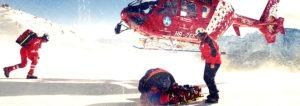 Helikopter op de piste