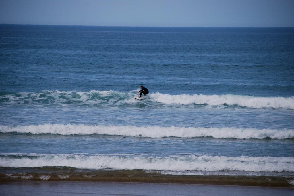 Lekkere kleine golven bij Les Dunes