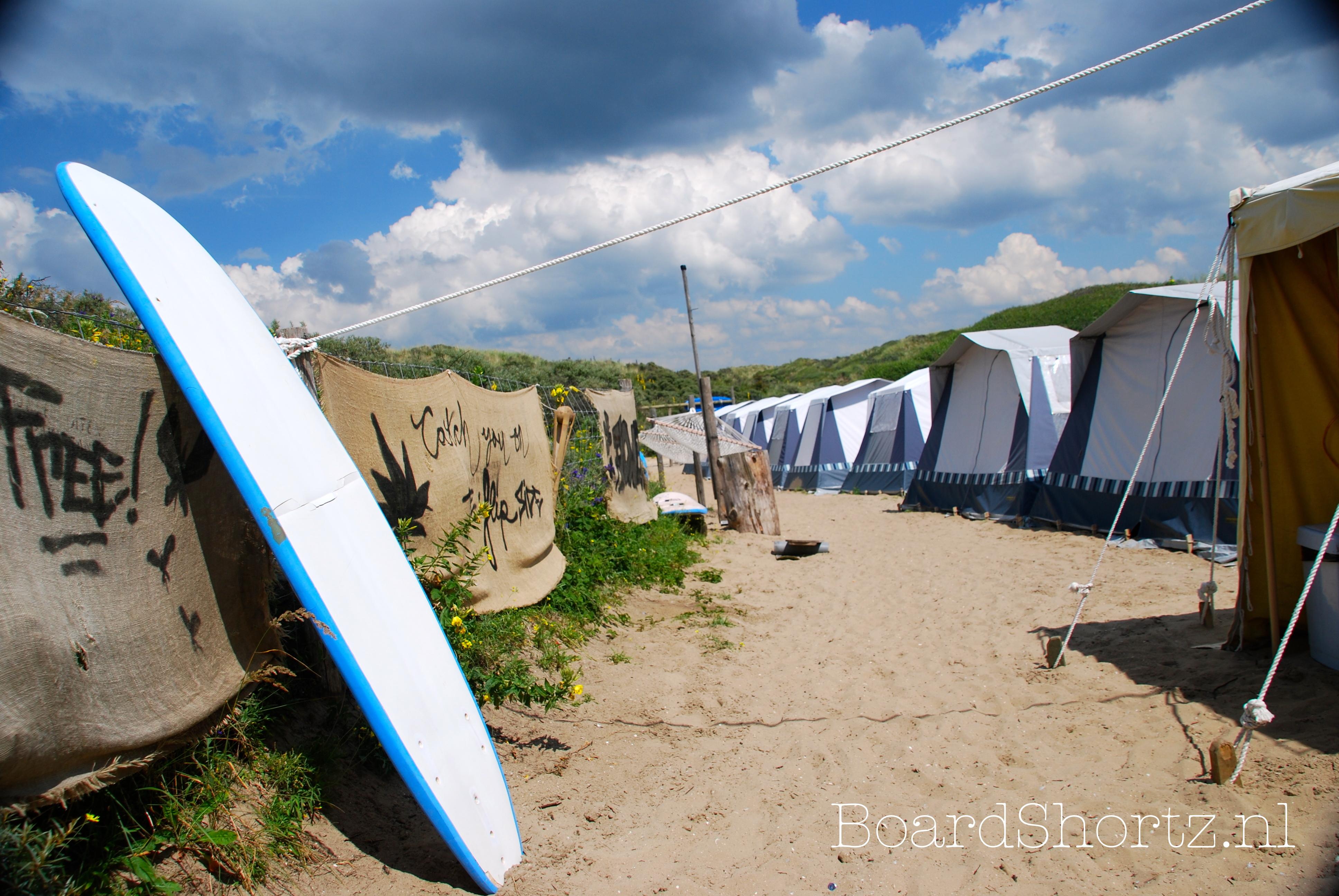 Surfcamp camping De Lakens