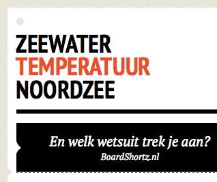 temperatuur noordzee infographic