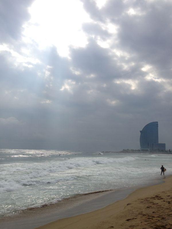 Barceloneta surfen