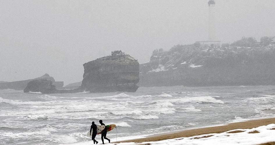 sneeuw stranden frankrijk