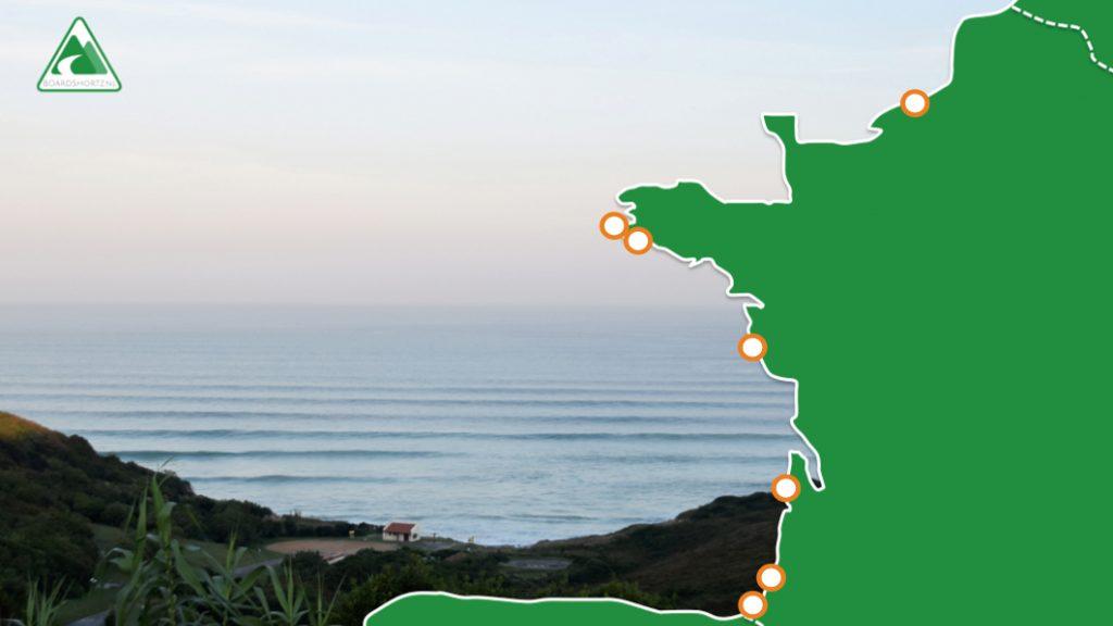 surfgids frankrijk met spots