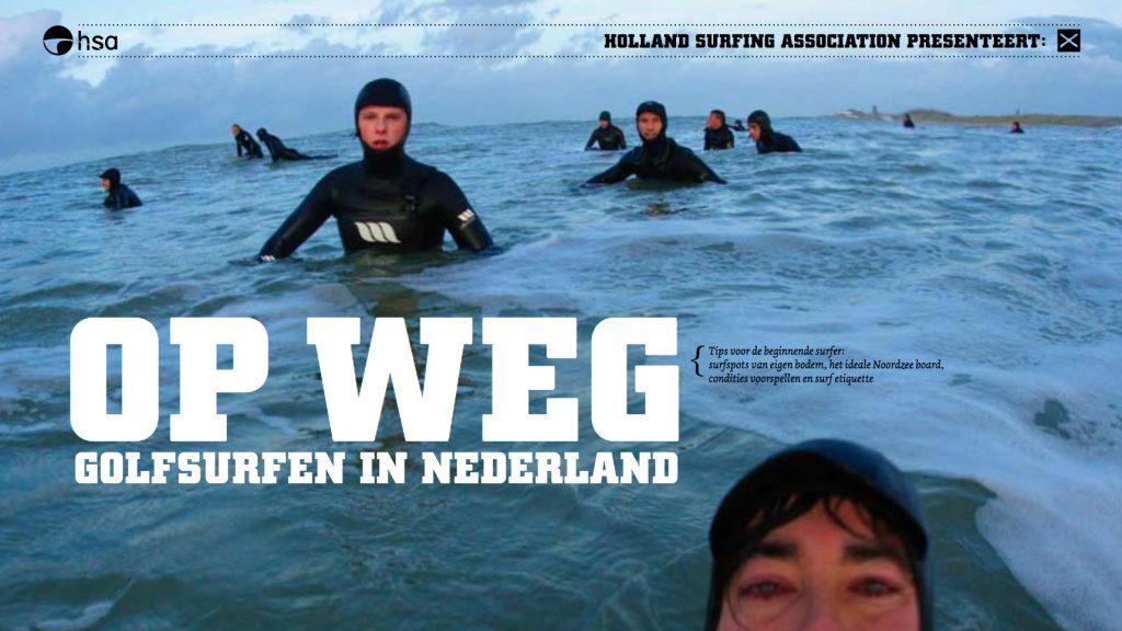 op weg golfsurfen in NEderland