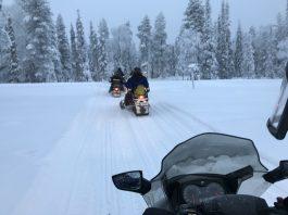 snow scooter lapland