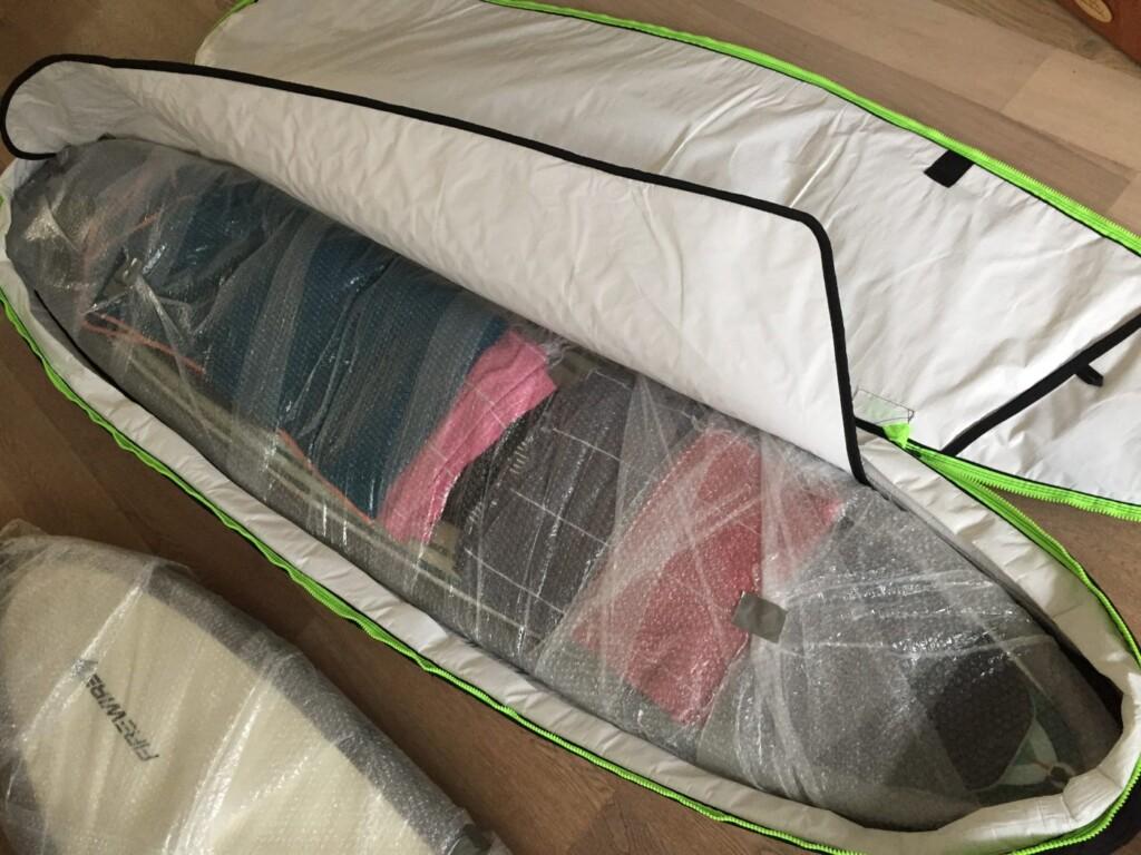 surfboard inpakken