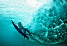 surfing and freediving