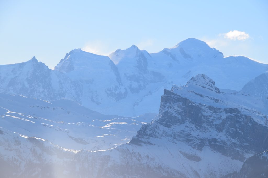 Mont Blanc vanaf Les Gets