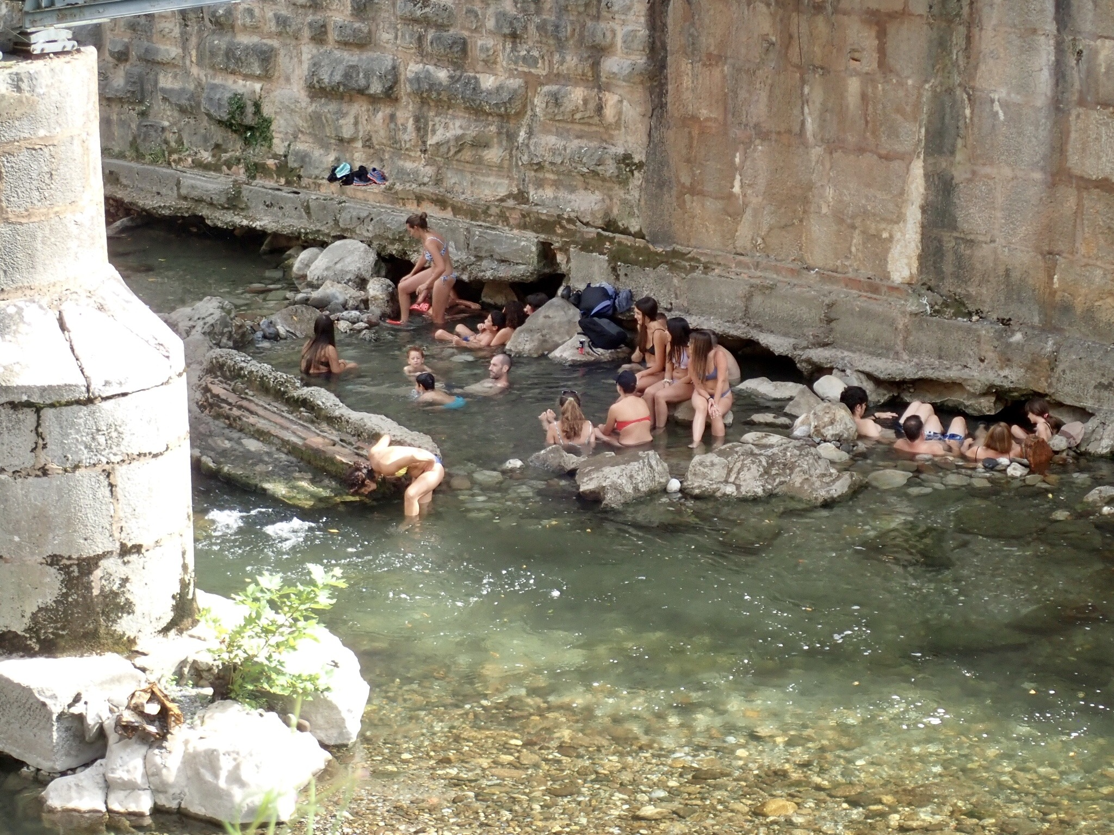 Warm waterbron in de Picos de Europa
