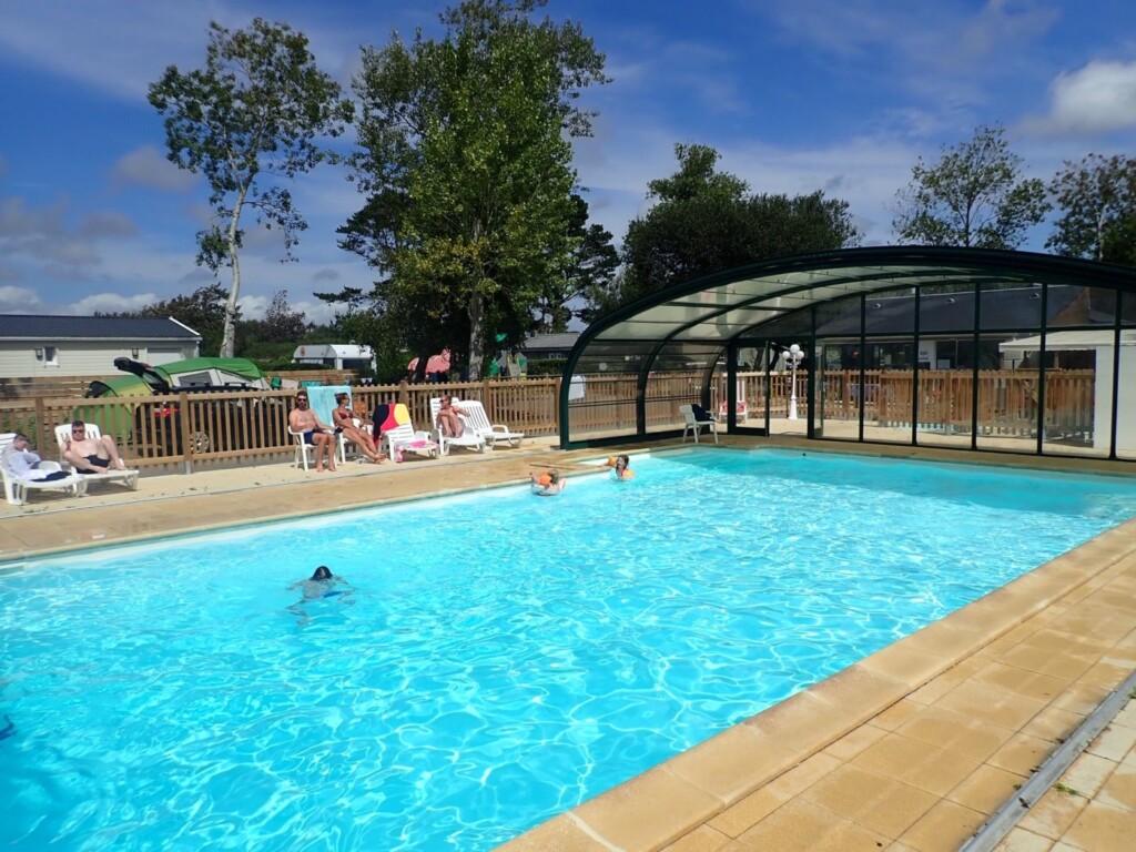 Camping met zwembad Bretagne