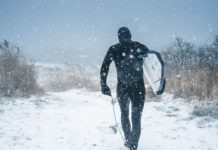 surfen in de winter