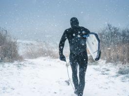 surfen in de winter