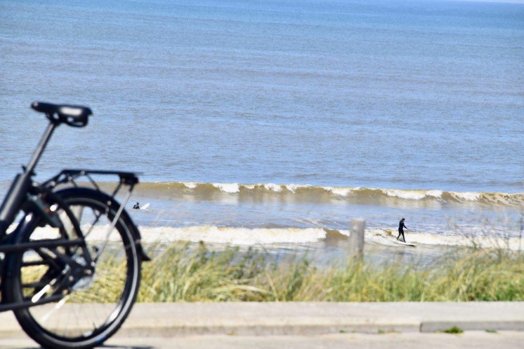 Met de fiets naar het strand