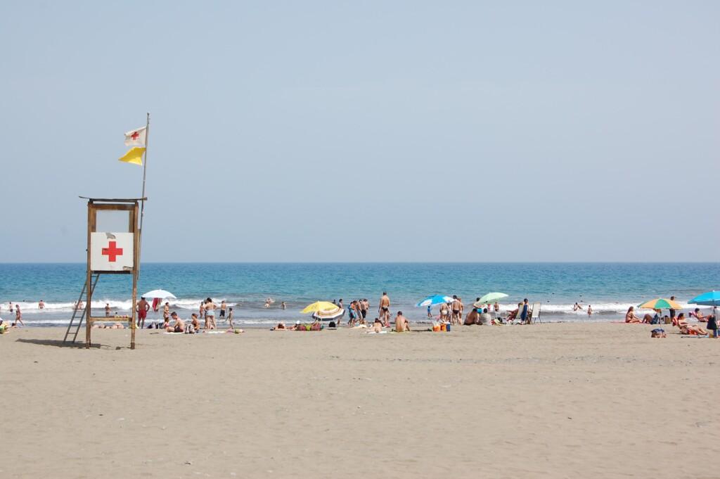 gele strandvlag