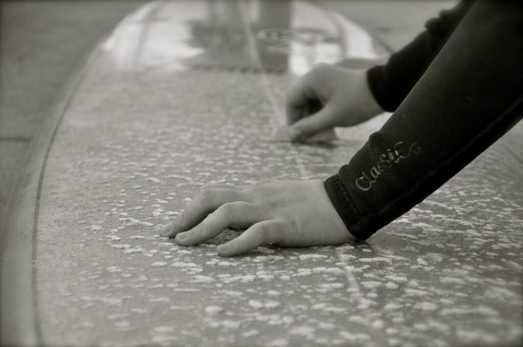 wax surfboard