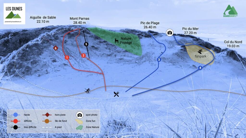 pistemap Les Dunes
